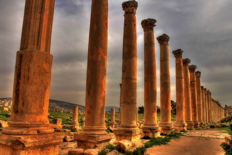 The Cardo Colonnaded Street of Jerash Jordan
