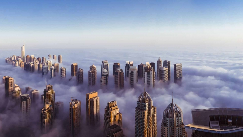 Dubai with Fog