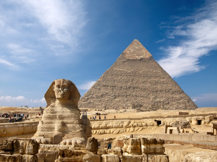 Cheops Pyramid and Sphinx