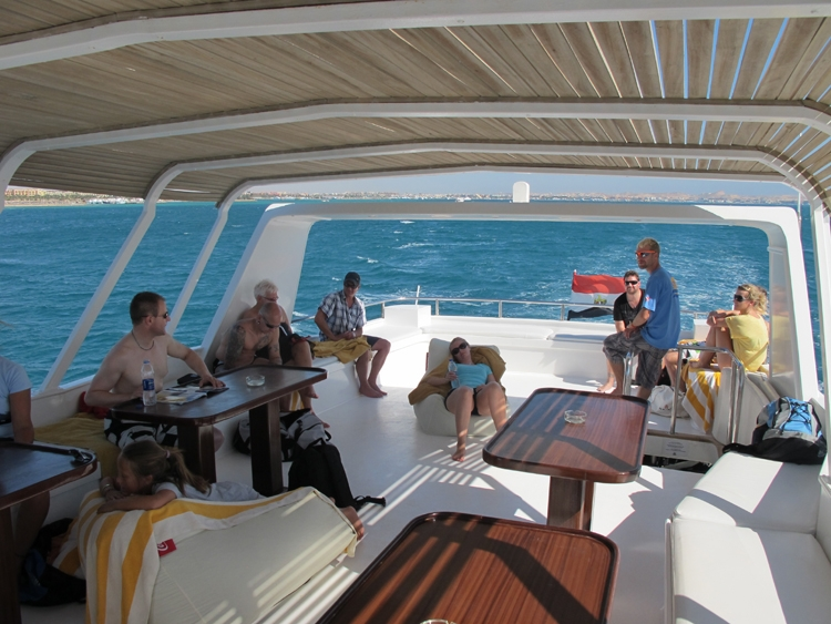 Relaxing on Board The Cruise, Red Sea