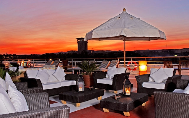 Sunset views from Nile Cruise sundeck