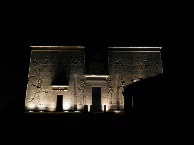 Sound and Light Show in Philae Temple