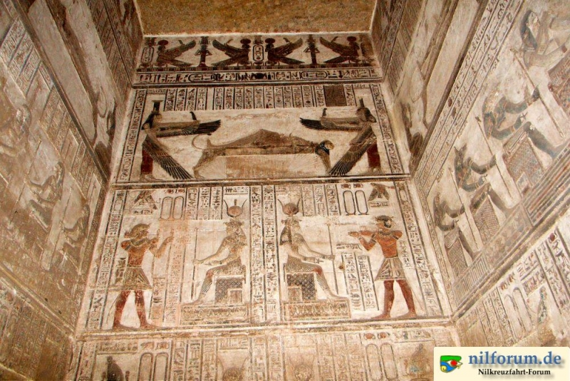 Paintings on The Wall of Dendera Temple