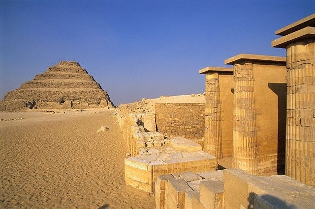 Djoser Stepped Pyramid in Saqqara, Egypt