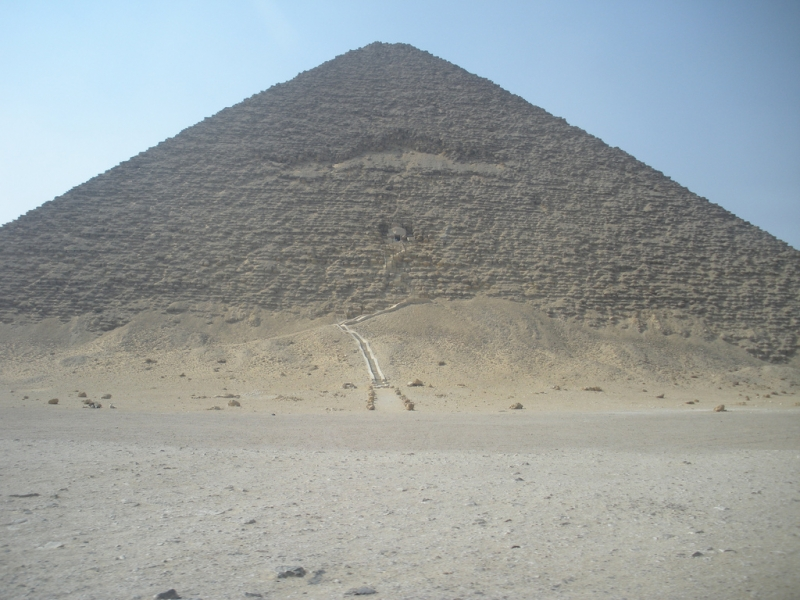 The Red Pyramid at Dahshur , Cairo