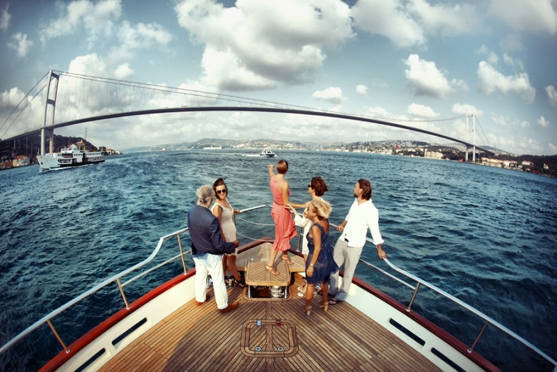 Viagem de barco no bósforo - Istambul