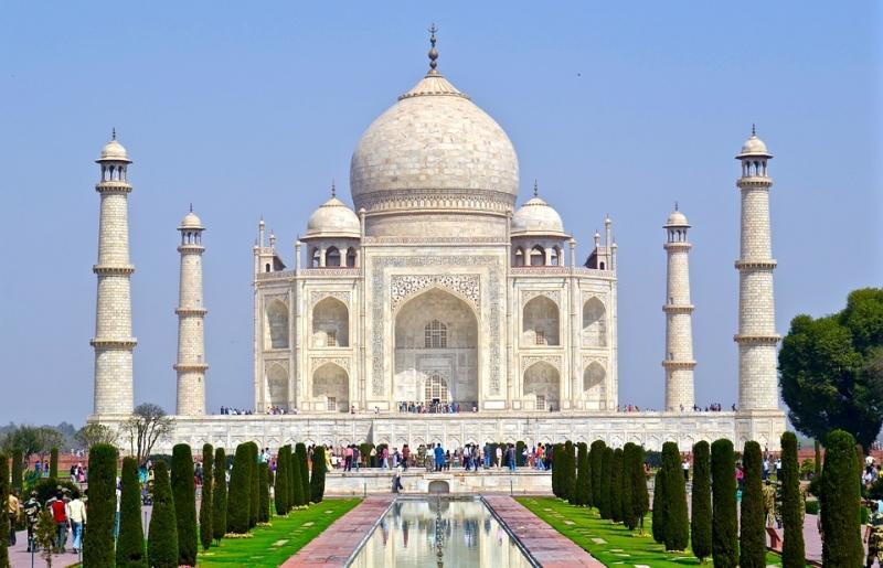Vista de día en Taj Mahal, Agra