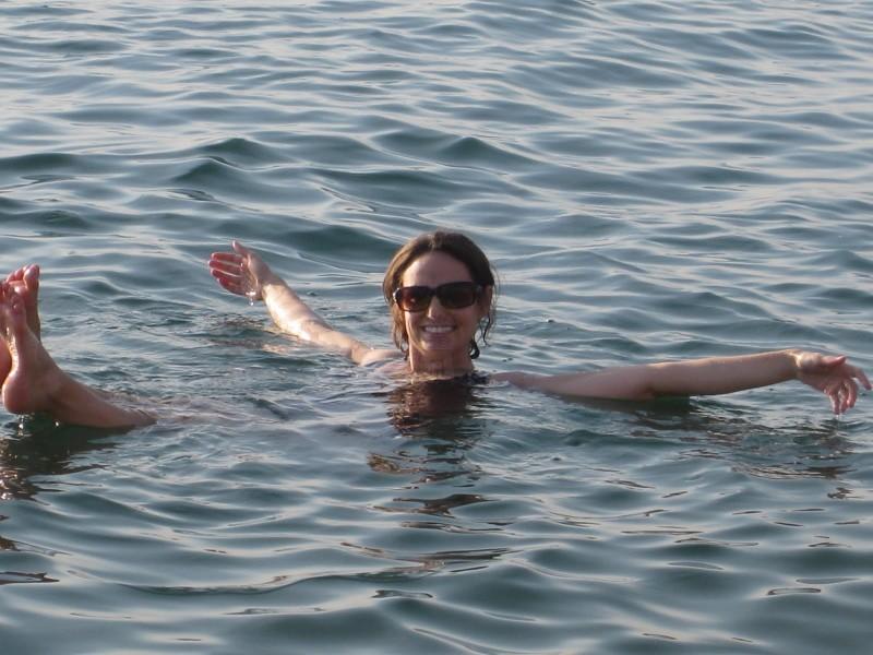 Enjoying Dead Sea Water