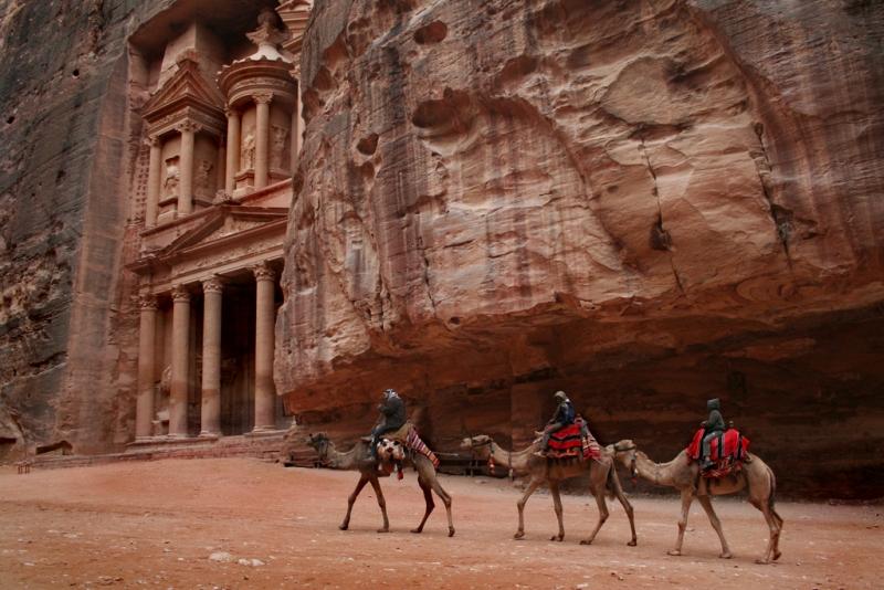 Camel ride at Treasury of Petra