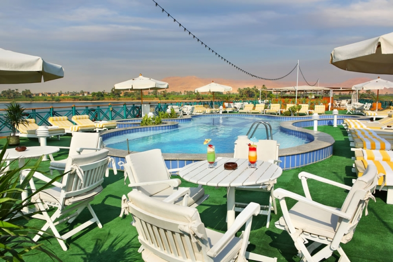 Sonesta Moon Goddess Nile Cruise Pool
