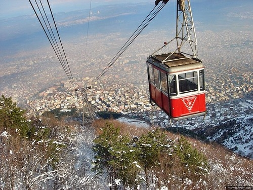 Climb to Uludag Mountain by Cable Car