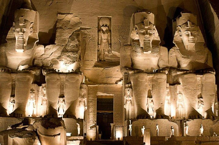 Sound and Light Show at Abu Simbel - Egypt