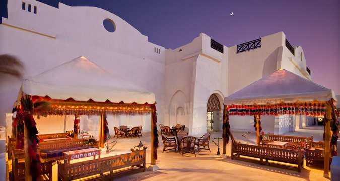 Relaxed Outdoor Bedouin-themed lounge