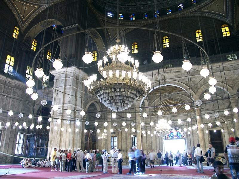 Mesquita de Alabastro de Mohammed Ali pelo dentro