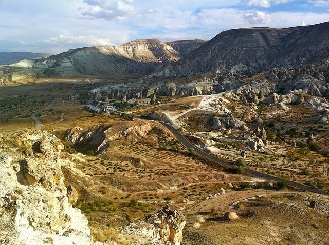 El valle de rocas en Capadocia
