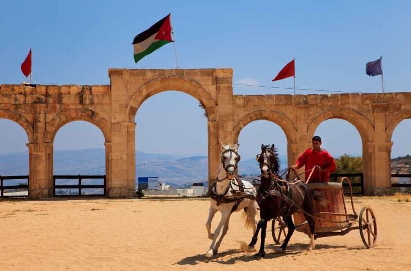 Carrozza a Jerash