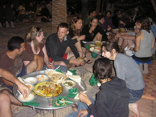 Dinner at Sinai Desert