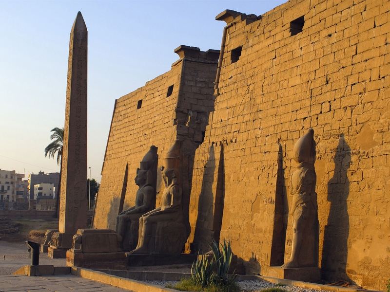 Entrance of Luxor Temple in Egypt