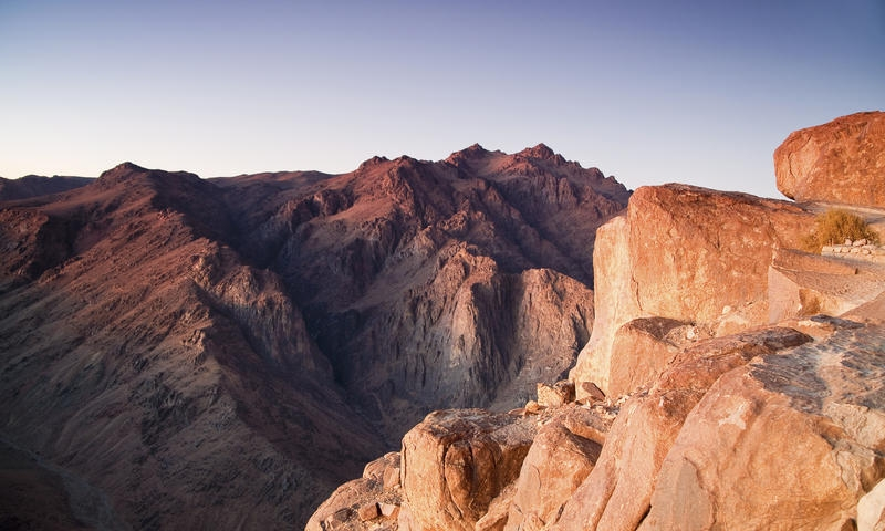 Sun Rise at  Mount Sinai - Egypt