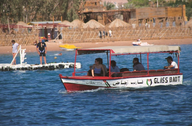 Barco com fundo de VIdro