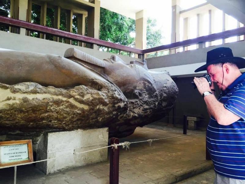 Ramsess II Statue in Memphis, Giza