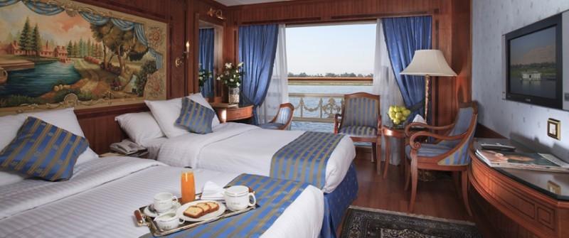 索内斯特圣乔治尼罗河邮轮,客舱