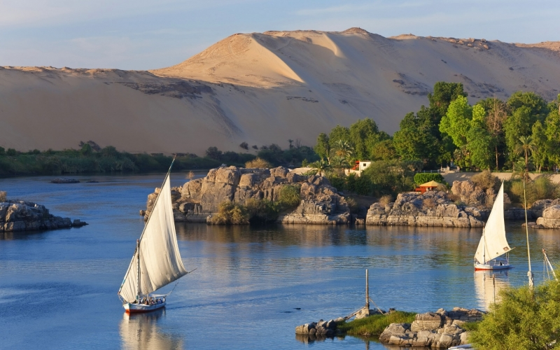 Felucca Sailing on The Nile in Aswan