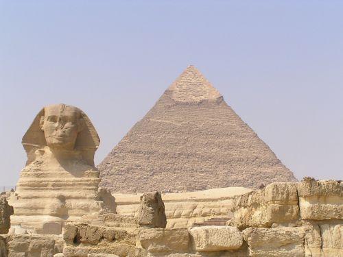 Giza Pyramids and sphinx