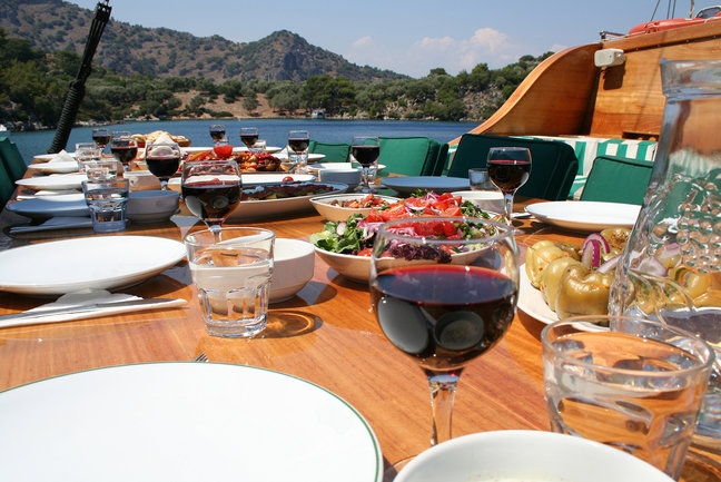 Mini Gulet Cruise Turkey - Dining Area