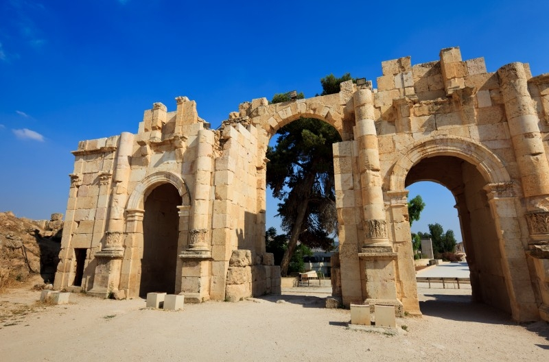 The Arch of Hadrian in Jerash