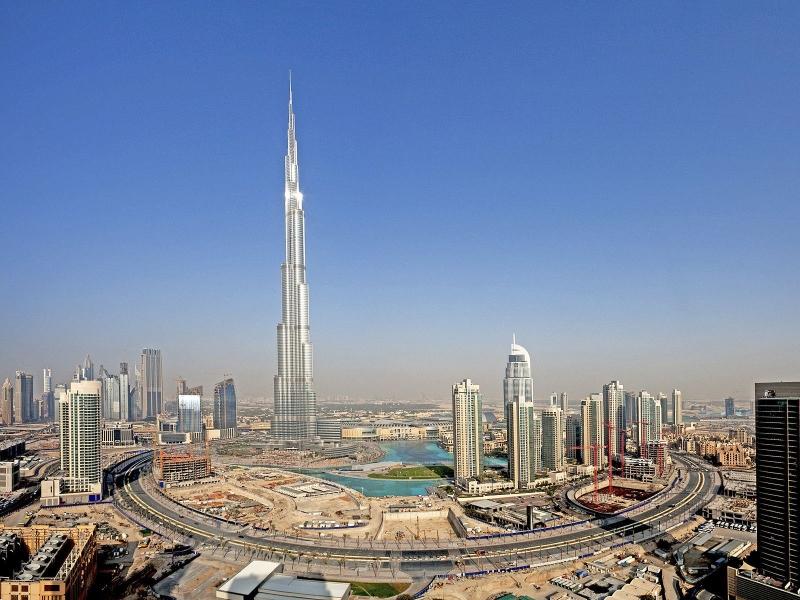 Vue panoramique sur Dubai