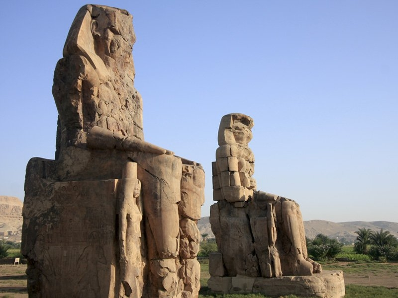 Colossal Statues of Amenhotep III Known As The Colossi of Memnon