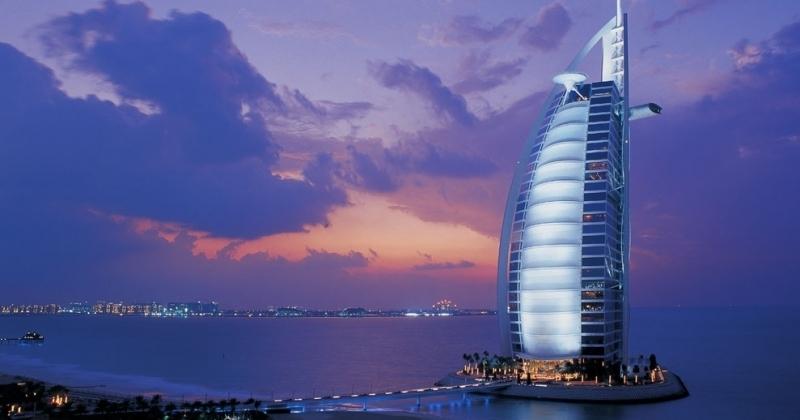 Ужин в Бурдж Аль Араб из Порта Дубая