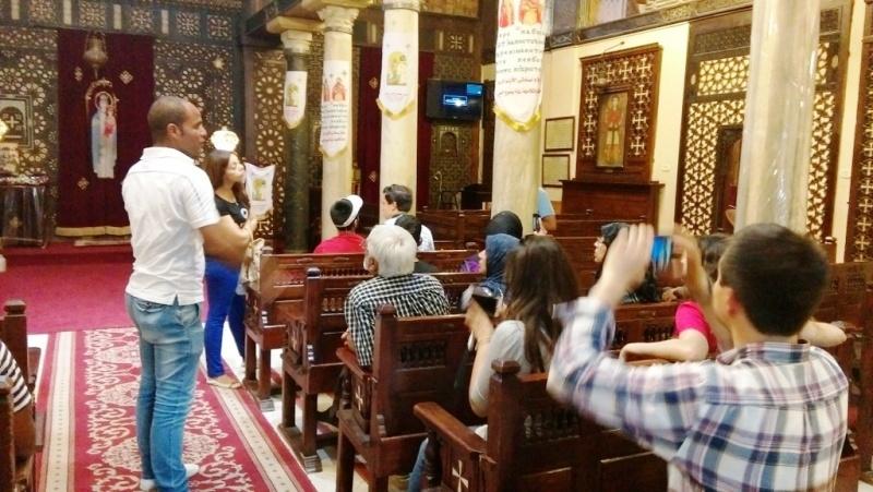 Innenraum der Hängenden-Kirche in Alt-Kairo