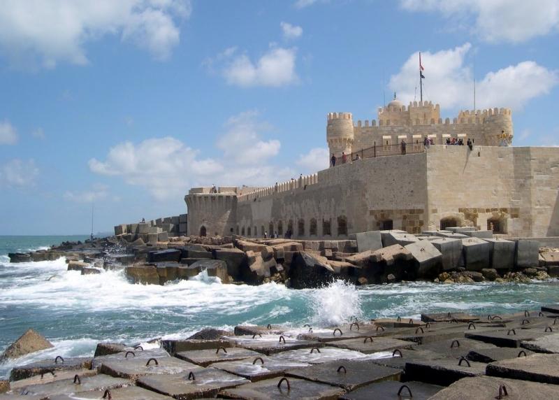Qaitbay Citadel in Alexandria, Egypt