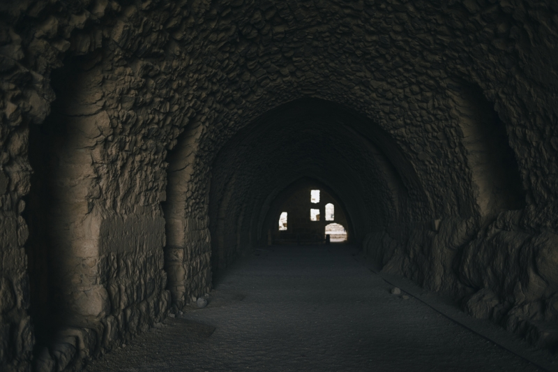 Interno del Castello dei Crociati, Kerak