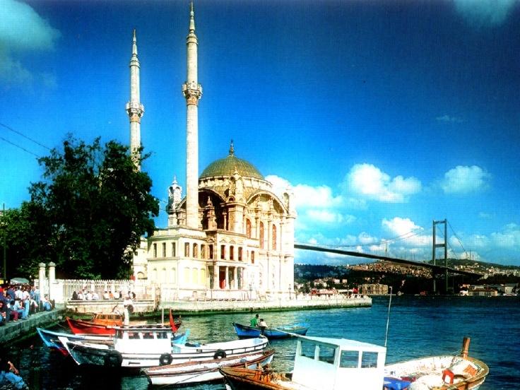 The Ortakoy Mosque and Bosphorus Strait