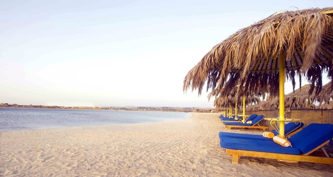 Sunloungers & Beach at Hilton Marsa Alam Nubian Resort