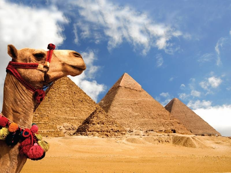 As pirâmides de Gizé, Egito.