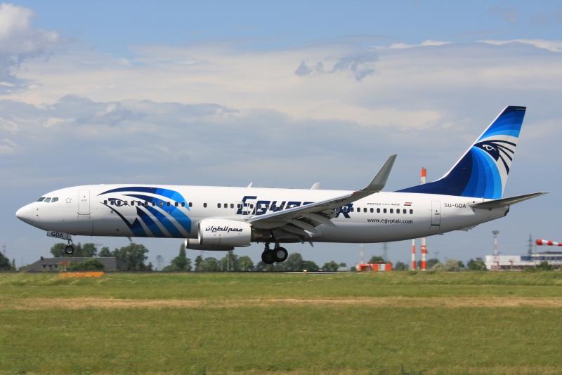 Airplane of Cairo Airport
