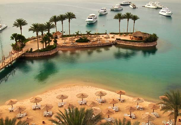 View from Hurghada Marriott Beach Resort