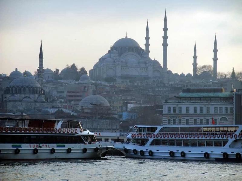 Mosquée de Souleiman depuis le Bosphore