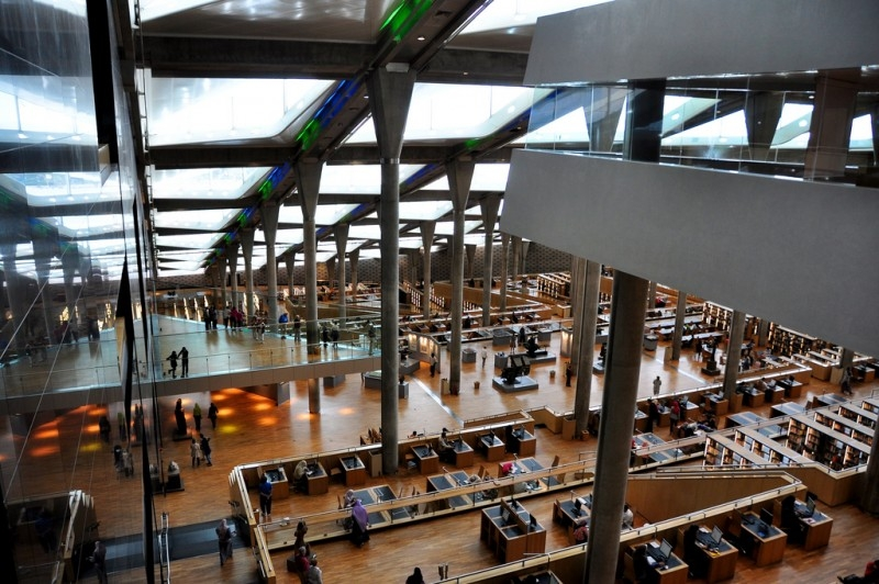 La Biblioteca de  Alejandría por dentro