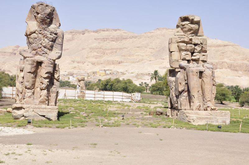 Colossi of Memnon in Luxor West Bank