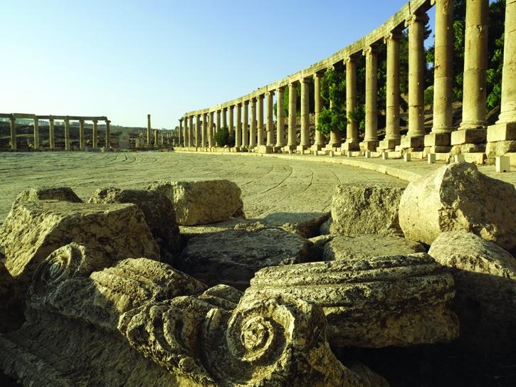 Oval Palace in Jerash