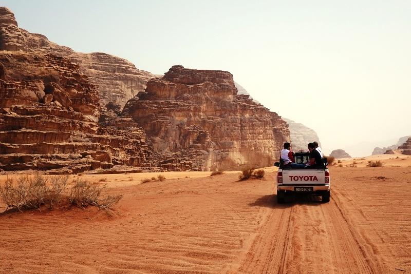 Wadi Rum Rugged Mountains.