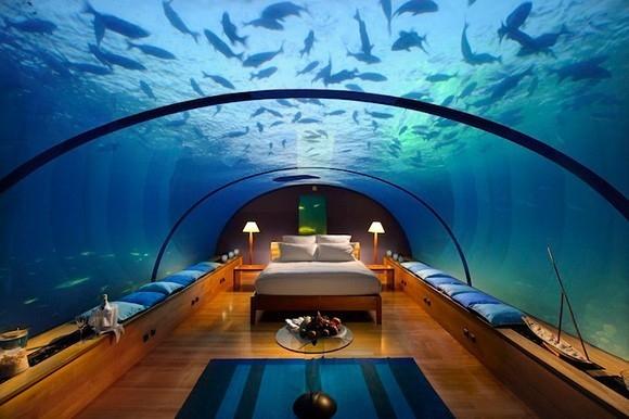 La habitación bajo el mar.