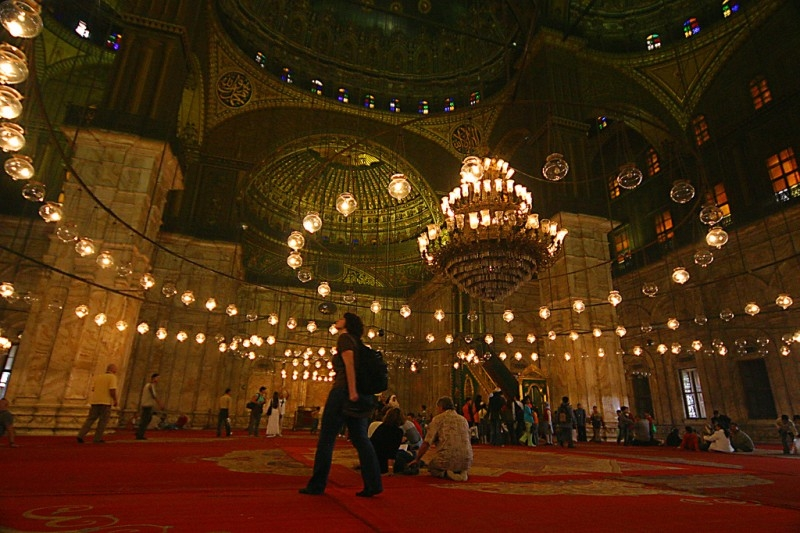 Interior Mohamed Ali Mosque Inside the Citadel
