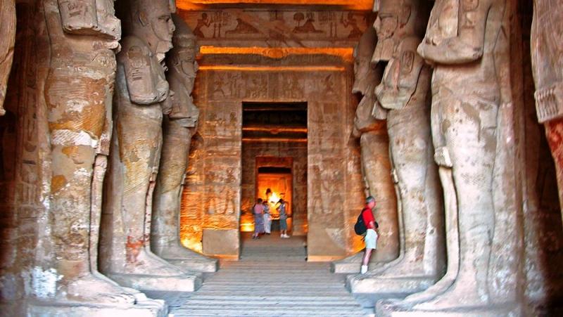 All'interno del Tempio di Abu Simbel