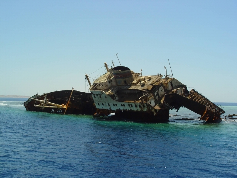 Egypt shipwrecks in the Red Sea